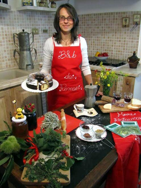 Gastvrouw Elisa is een uitstekende kok